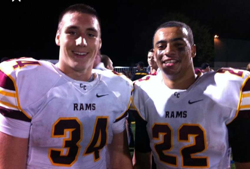 Ryan Nall (left) and Cameron Scarlett ran for 676 yards in Central Catholic's 2013 semifinal win over Tigard.