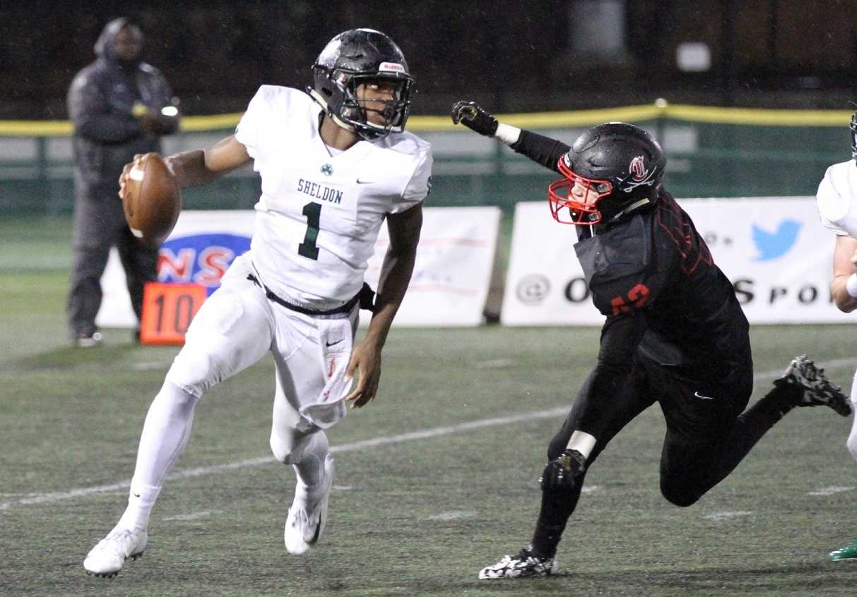 Sheldon's Michael Johnson Jr (1), injured in the semifinals, has been cleared to play in the final. (Clackamas Touchdown Club)
