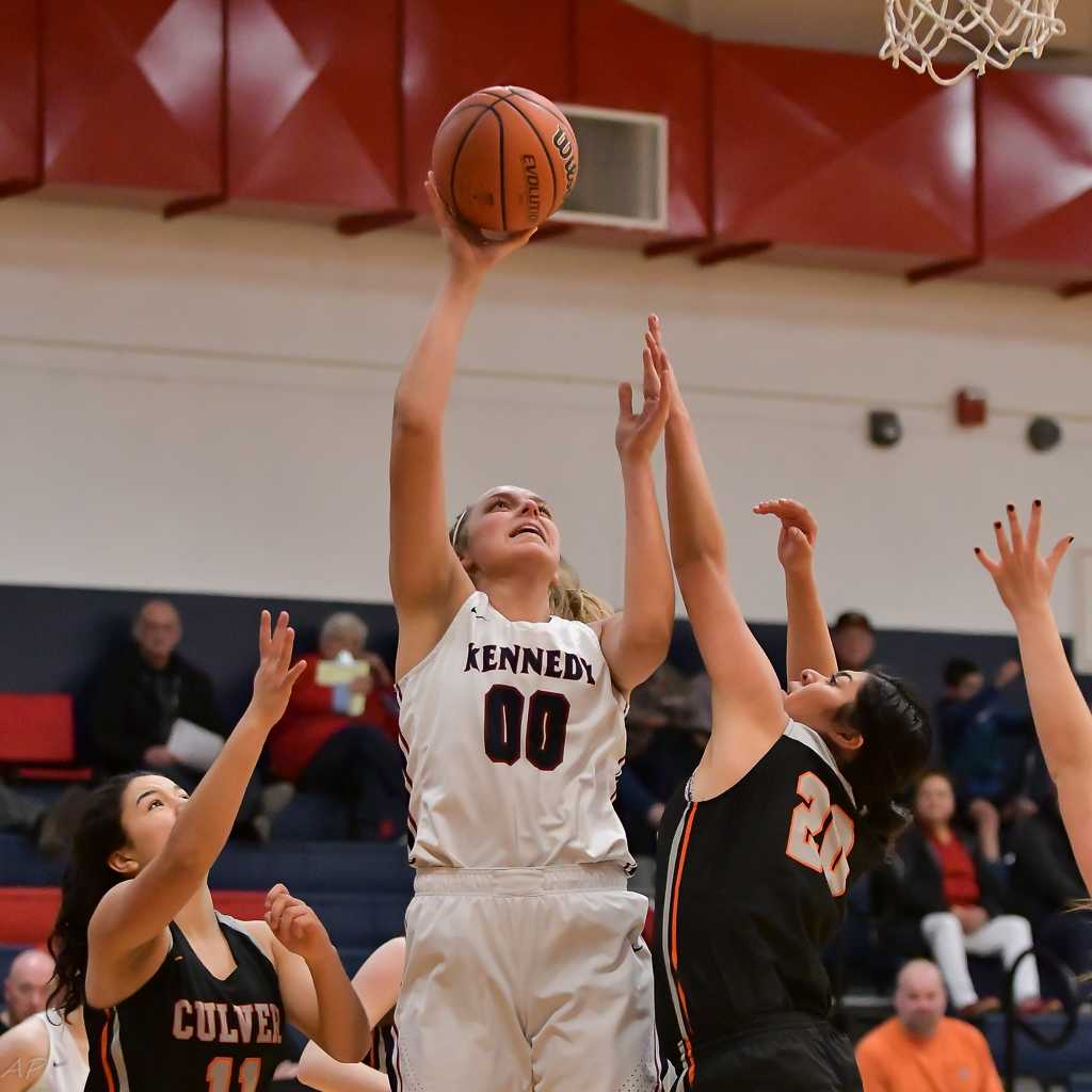 Sophia Carley scored 25 points for Kennedy on Monday. (Photo by Andre Panse)