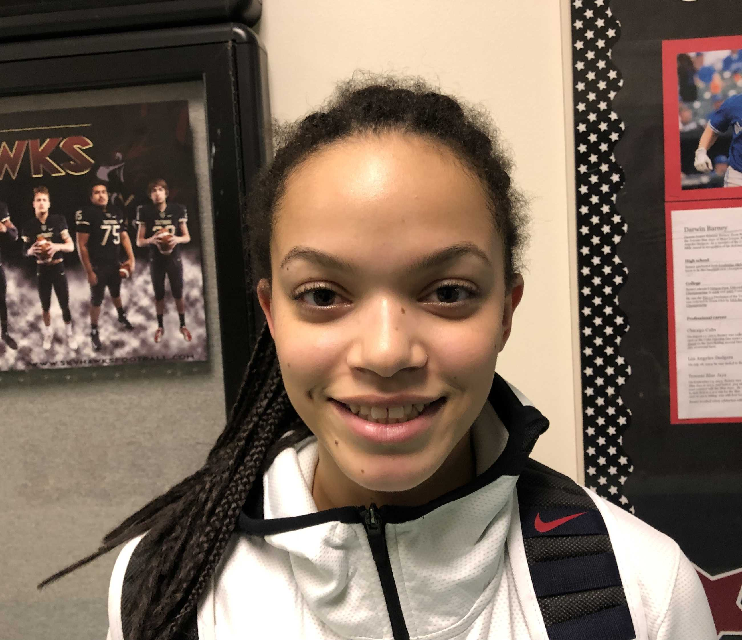 Southridge junior Kyla Vinson contributed eight points off the bench Tuesday.