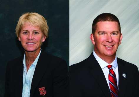 NFHS executive director Karissa Niehoff and OSAA executive director Peter Weber