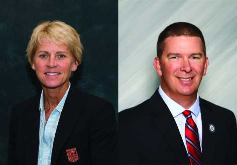 NFHS executive director Karissa Niehoff and OSAA executive director Peter Weber