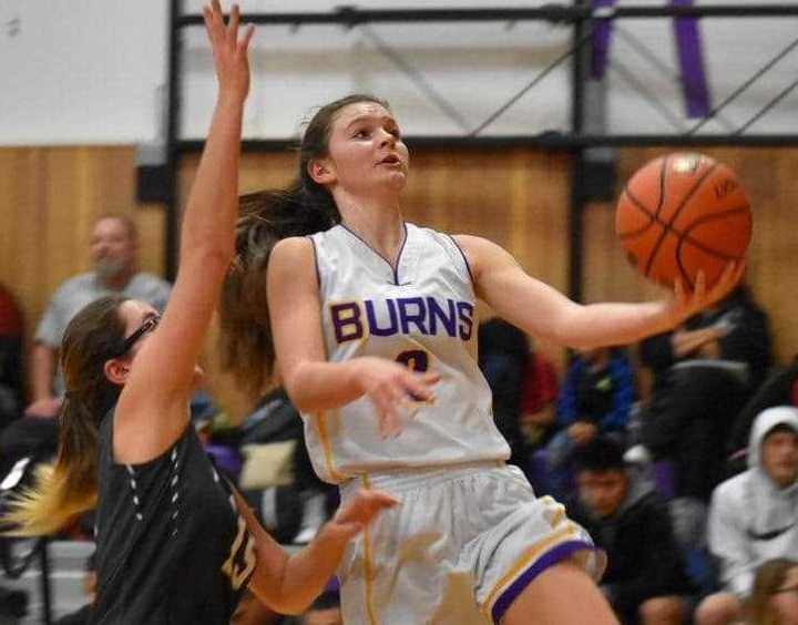 Burns sophomore guard Allie Hueckman is averaging 21.5 points per game.
