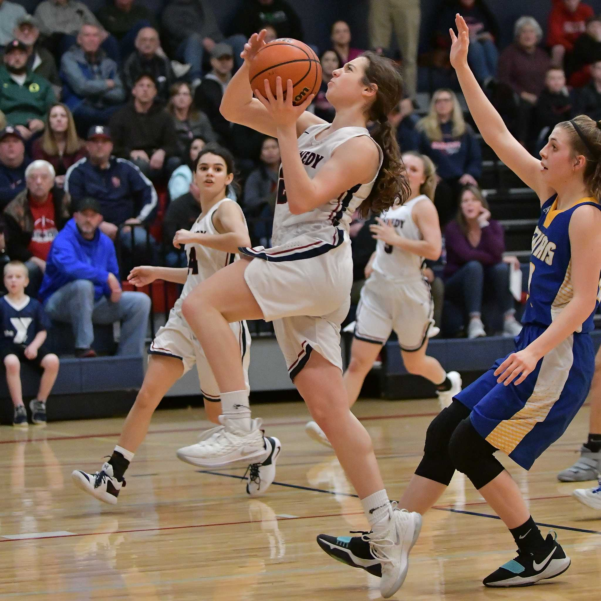 Kennedy's Ellie Cantu scored 13 points in Saturday's win over Gervais. (Photo by Andre Panse)