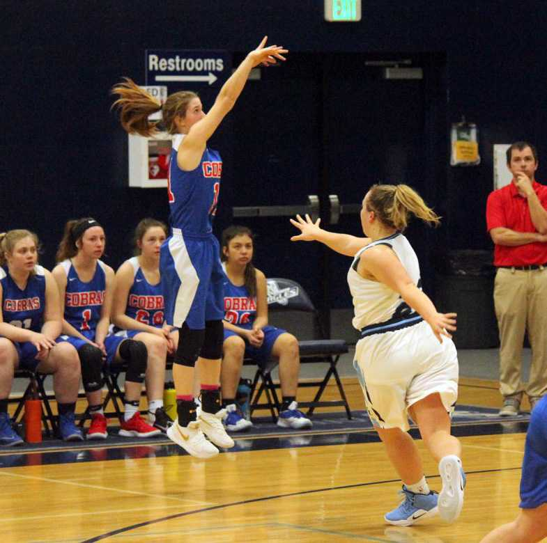 Colleen McLaughlin launches for Central Linn, which opens against the defending state champs. Photo by Seandra Reese