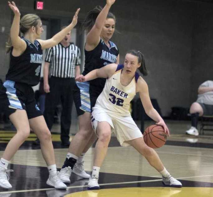 Baker's Rose Gwillim (32) had 11 points, seven rebounds and three assists Saturday. (Photo by Peter Christopher)