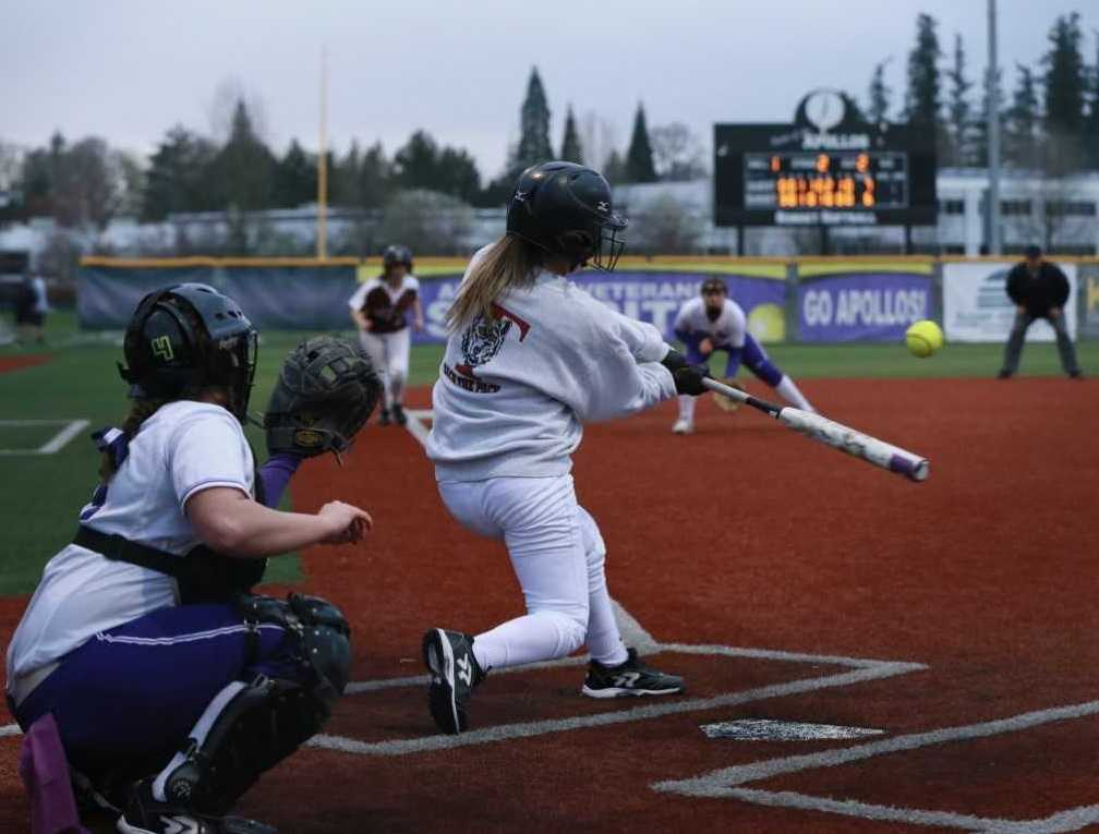 Andrea Gomez had an RBI in Tualatin's 7-6 win at Sunset on Friday. (Photo by Mark Johansen)