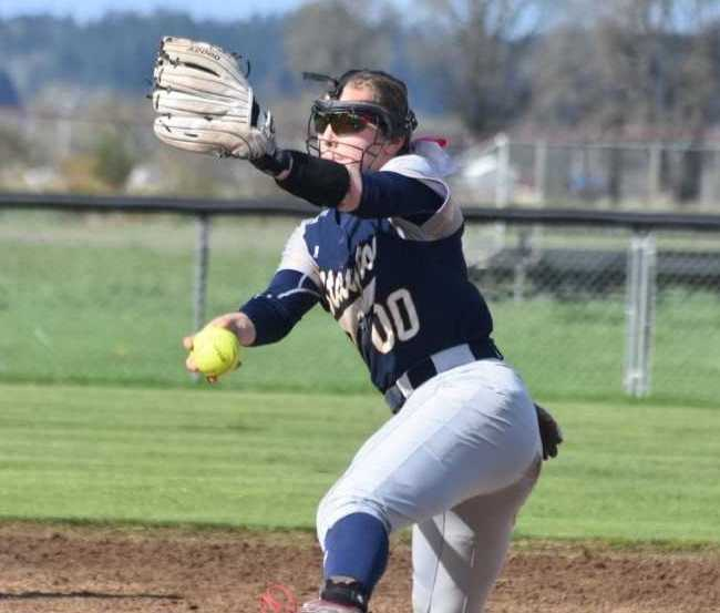 Stayton's Mackenzie Maurer tossed a three-hitter with eight strikeouts to beat Cascade. (Photo by Jeremy McDonald)