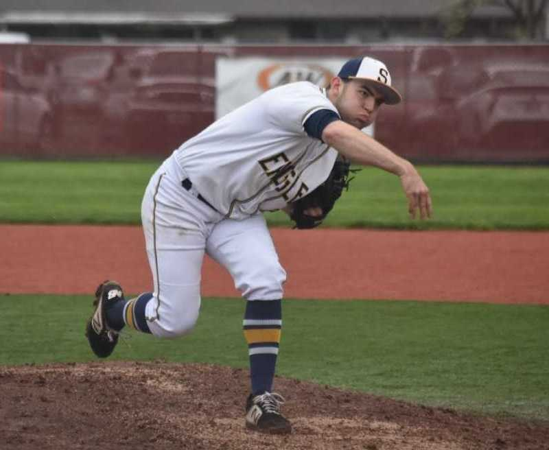 Jared Mitchell struck out 10 in six innings for Stayton on Monday. (Photo by Jeremy McDonald)