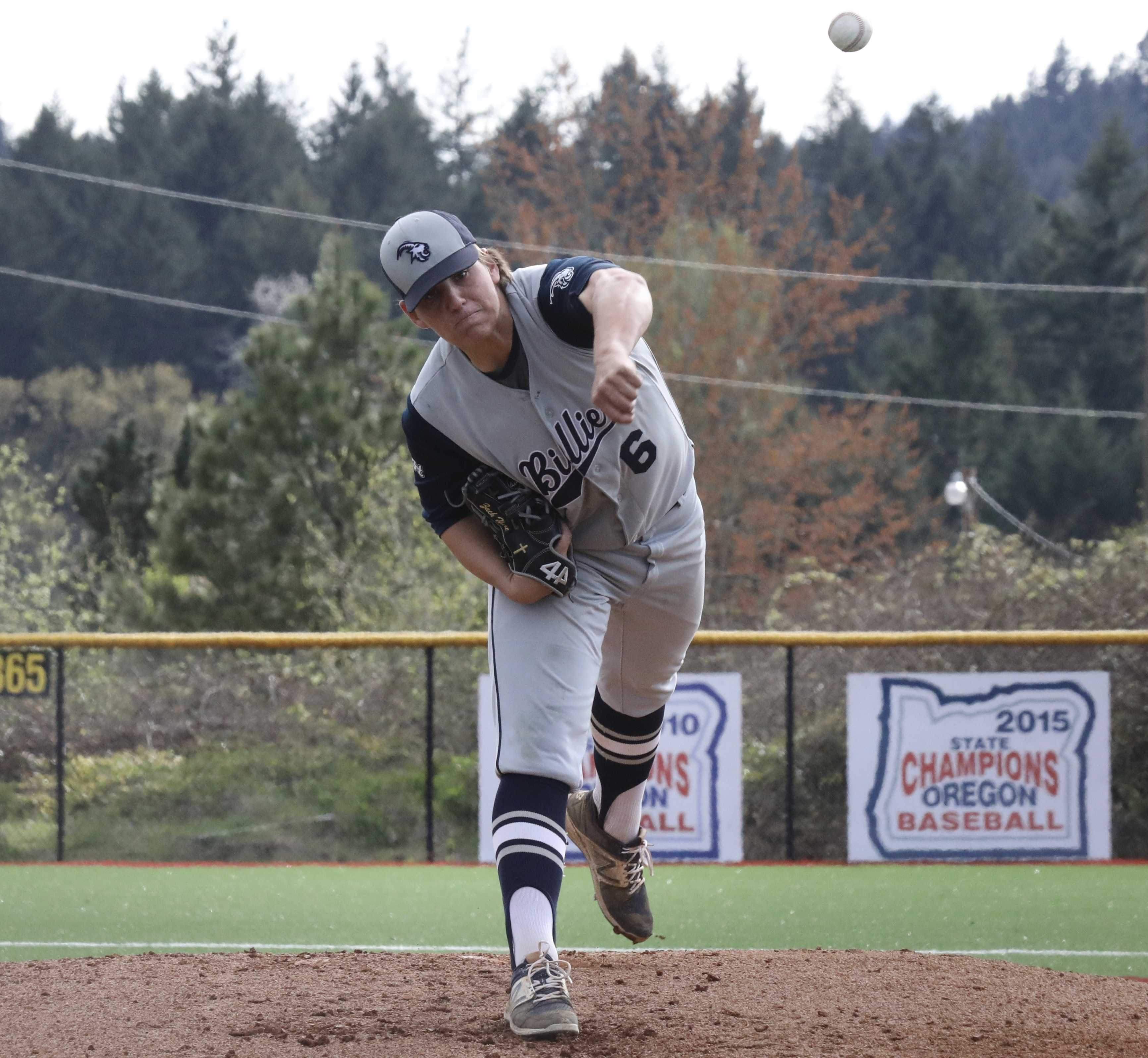 Pleasant Hill left-hander Zach Hart allowed only three hits, struck out 10 and got two hits to lead Billies (Norm Maves Jr.)