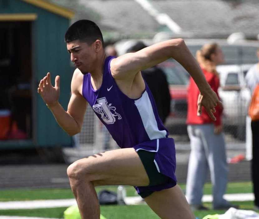Jefferson's Cesar Sepulveda improved by more than four inches in the high jump this season.
