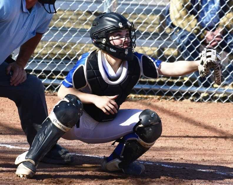 La Grande catcher Jayce Seavert, the 2018 4A player of the year, has 53 RBIs this season. (Photo by Jim Whelch)