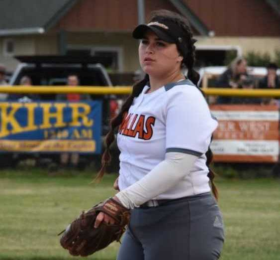 Dallas' Kaelynn Simmons has struck out 24 in the last two games. (Photo by Jeremy McDonald)