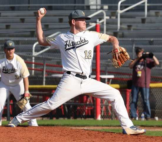 Adam Plant of LaPine scattered seven hits, struck out nine and didn't give up an earned run Friday. (Photo by Norm Maves Jr.)