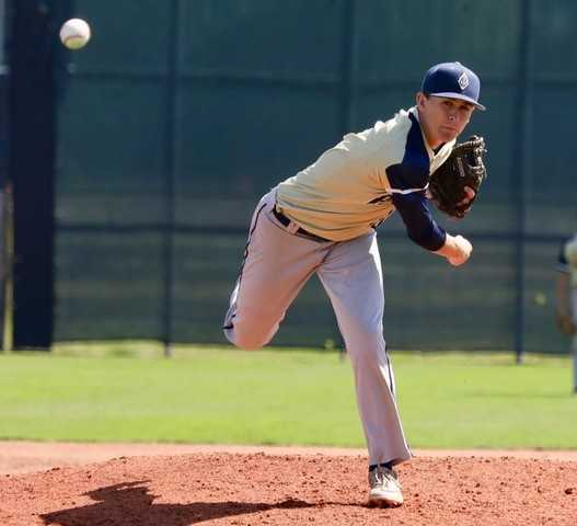 Hayden Vandehey pitched a complete-game victory and was named Banks' player of the game.