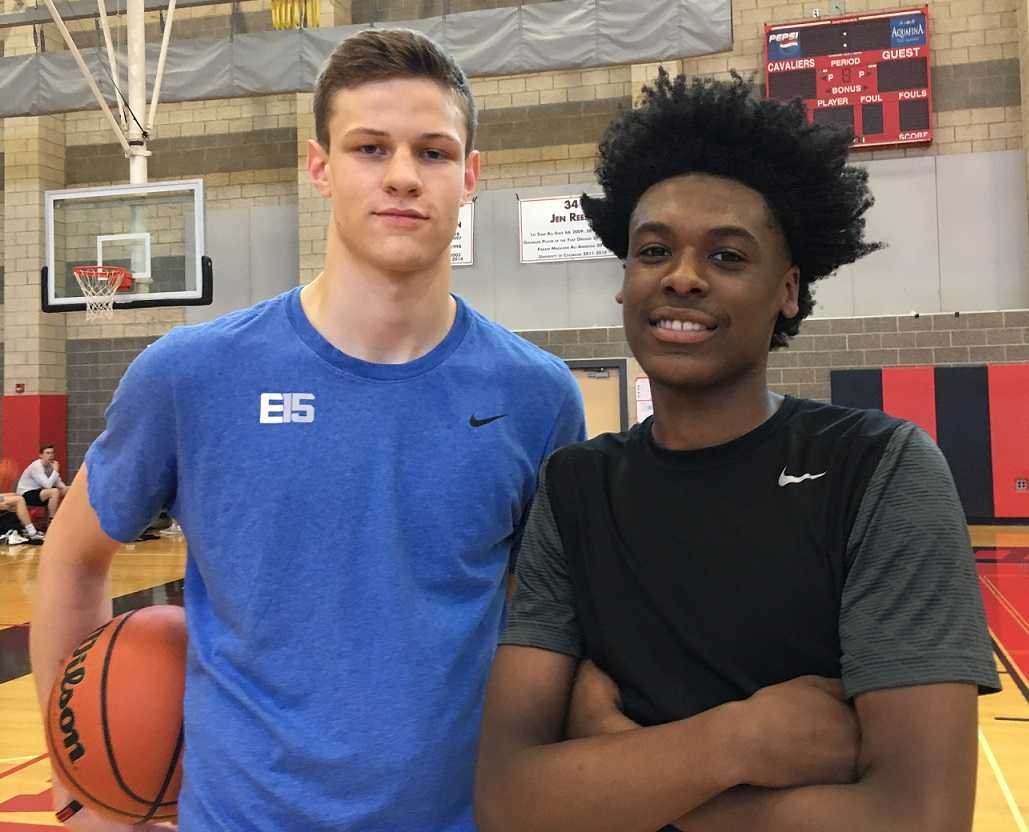 Ben Gregg (left) and Damontae Burns helped lead Clackamas to second place in a tournament at Oregon State last weekend.