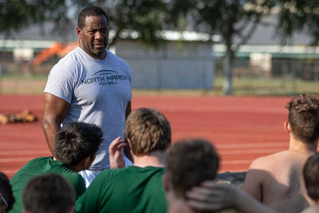Calvin Griggs says North Marion players are a good fit for his spread offense. (Chase Allgood/OregonLive)